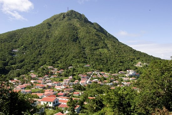 Aqua Mania Adventures : Typical Saba view - red roofs in mountain forrest