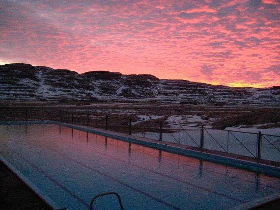 Hotel Laugarholl: Warm pool at Laugarholl
