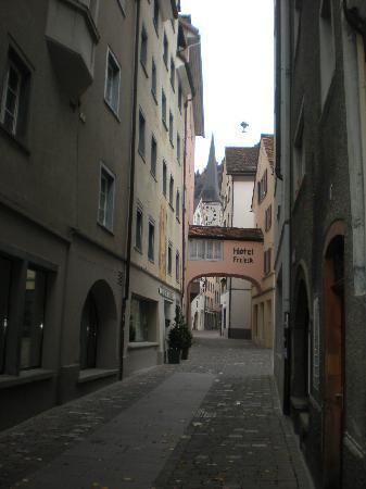 Ambiente Hotel Freieck: side street view of Hotel