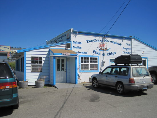The Crazy Norwegian's Fish & Chips: Outside of the Crazy Norwegian