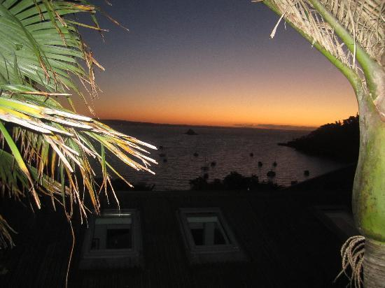 Heartsong Retreat: View of sunset from the Cabana Room