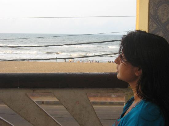 The sea from Varanda of Sagarika Hotel