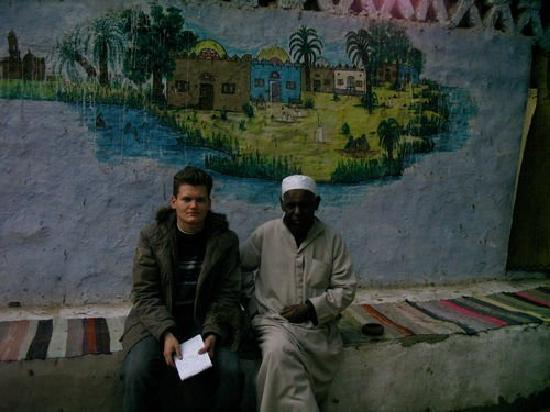 Nubian Village : A hospitable man and a good connoisseur of Nubian traditions