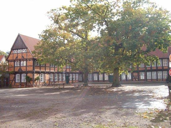 Nienburg, Almanya: Fresenhof, Fachwerkgebäude, alter Burgmannshof