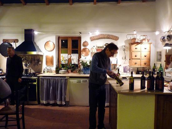 Agriturismo Marciano: Christian in his lovely kitchen