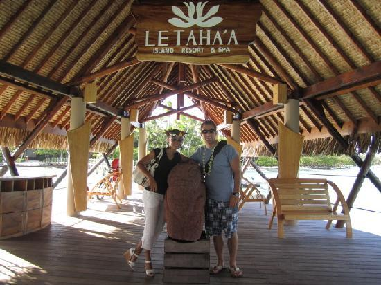 Le Taha'a Island Resort & Spa: arrival
