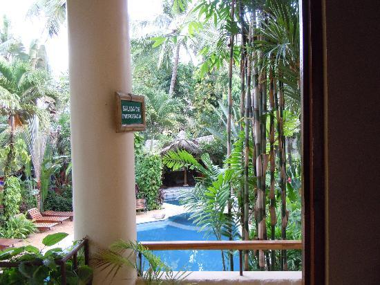 Canciones del Mar Boutique Hotel: View from our front door (pool area)