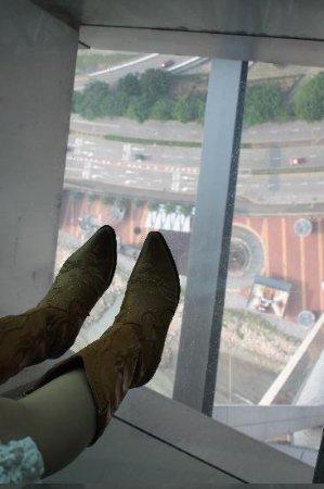 Макао, Китай: ガラスの床