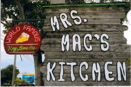 Mrs. Mac's Kitchen: Look for the Sign