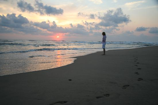 Playa Viva: the sunset on my first evening - releasing baby turtles!