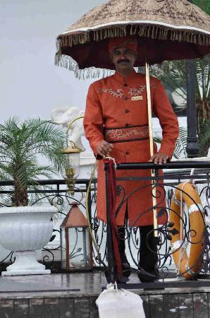 Taj Lake Palace Udaipur: Taj Lake Palace -  Dock reception at hotel