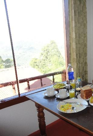 Shamrock: Breakfast with outside view