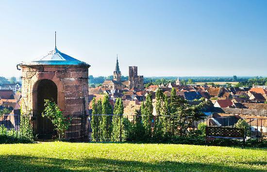Chateau d'Isenbourg : Château d'Isenbourg, vue sur la plaine d'Alsace, la forêt noire et la cité médièvale de Rouffach