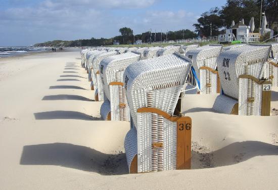 Ostseebad Kuhlungsborn, Alemanha: Strandkurve er gode til tøj m.m. :)