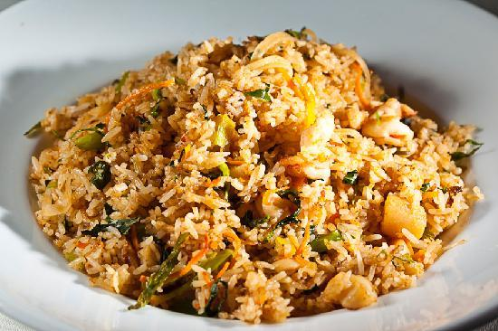 S Vietnamese Fine Dining: Fried rice with scallops and a hint of lemongrass
