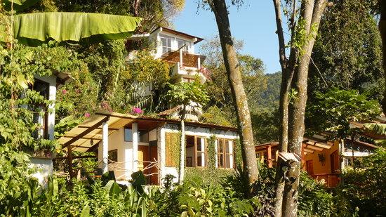 Lush Atitlan/Hotel Aaculaax: view from garden