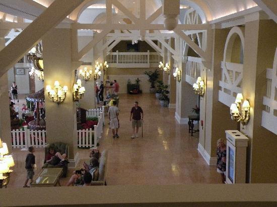 Disney's Beach Club Resort: lobby from 2nd floor