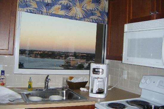 Wyndham Santa Barbara: Paisaje... un cuadro en la cocina