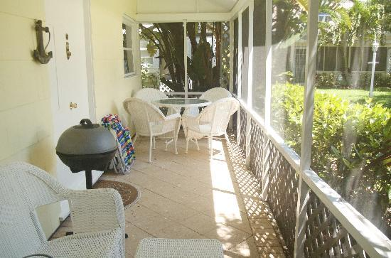 Cottages by the Ocean: Enjoy large screened-in porches with BBQ at most cottages