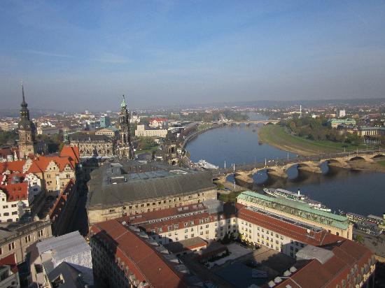 Dresden, Alemania: Von der Kuppel der Frauenkirche