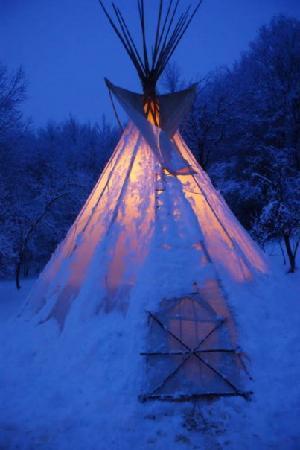 Velika Plana, Croacia: Tipi in the wintertime