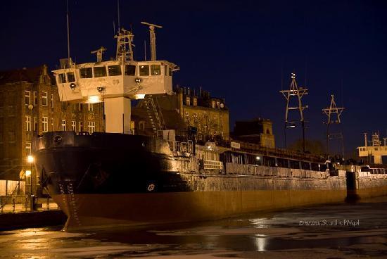 Gdansk, Polen: Danzica di notte