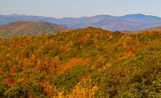 North Carolina Mountains, Kuzey Carolina: The Parkway in the Fall