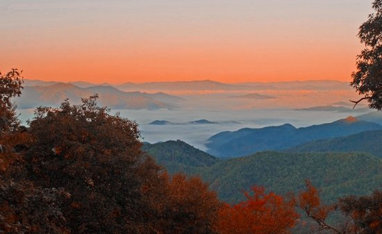 Asheville, Karolina Północna: Morning over the Parkway