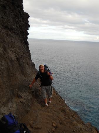 Kalalau Trail: Cliff section Mile 7