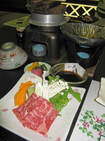 Ryokan  Yoshinoya: Evening meal