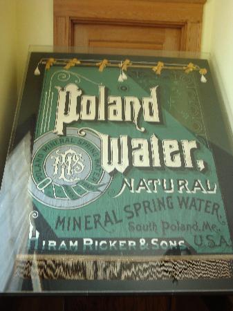 Original Poland Spring Sign - in Maine State Building
