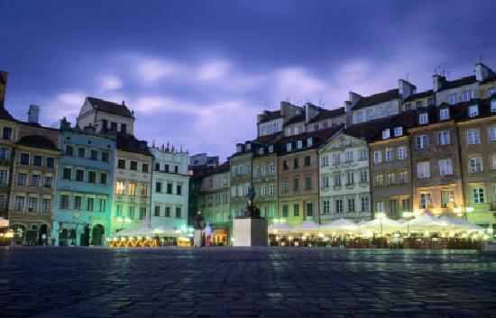 Varsovie, Pologne : Varsavia di notte