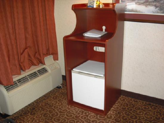 Hampton Inn Stroudsburg / Poconos: Refrigerator, missing microwave