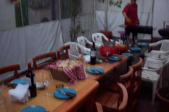 Ecohostel Chile: BBQ night on the patio