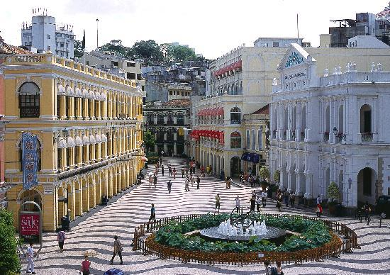 Macao, China: Senado Square has been Macau's urban center for centuries and hosts many events and festivities.