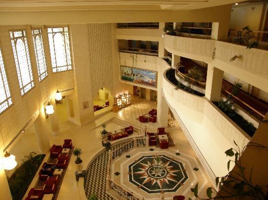 El Mouradi Hammamet: vista hall desde segunda planta