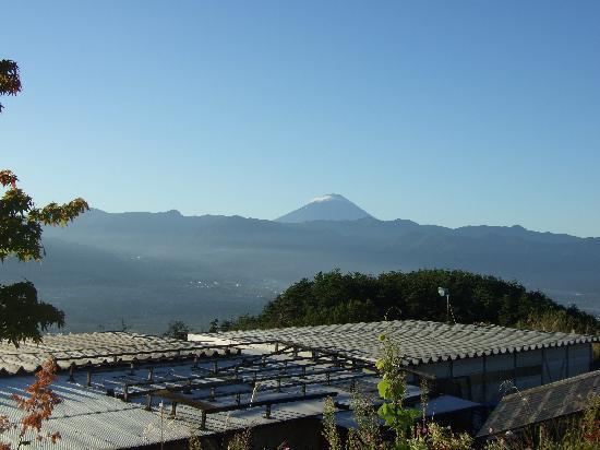 Yamanashi, Japonya: 遠くに富士山が見えます