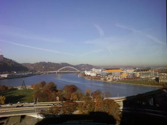 view from our room picture of wyndham grand pittsburgh. Black Bedroom Furniture Sets. Home Design Ideas