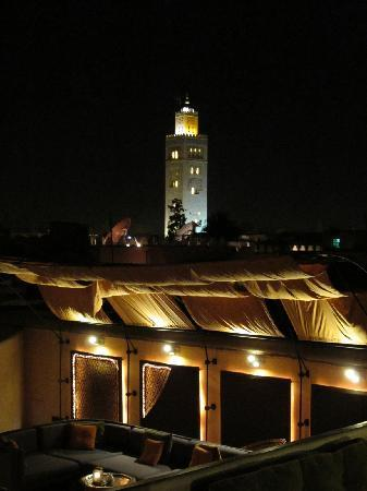 Maison MK: Koutoubia by night (from MK's roof terrace)