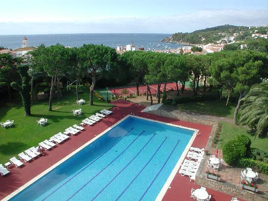 Hotel Alga: Piscina y jardines