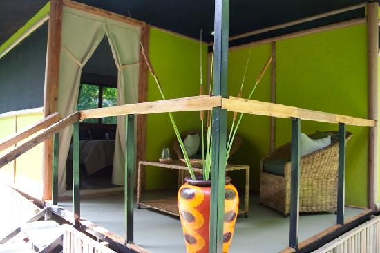 Murera Springs Eco Lodge: each has a little veranda