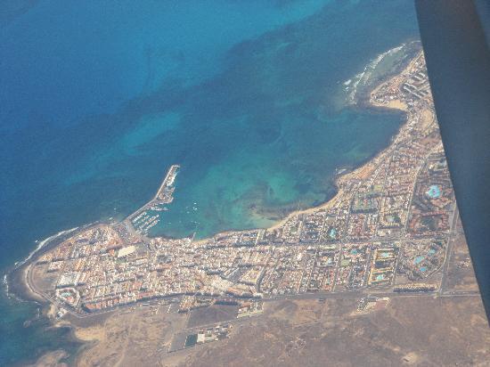Barceló Corralejo Sands: Corralejo from the air