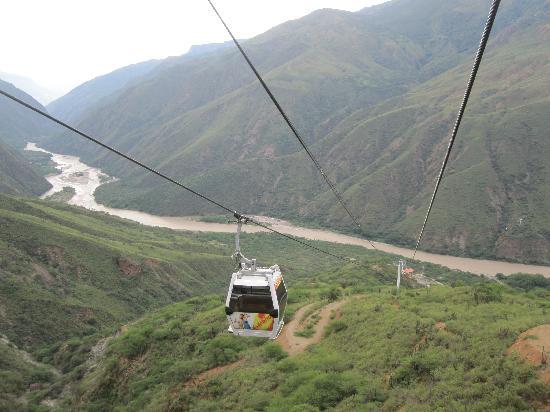 Parque Nacional de Chicamocha: Cable car