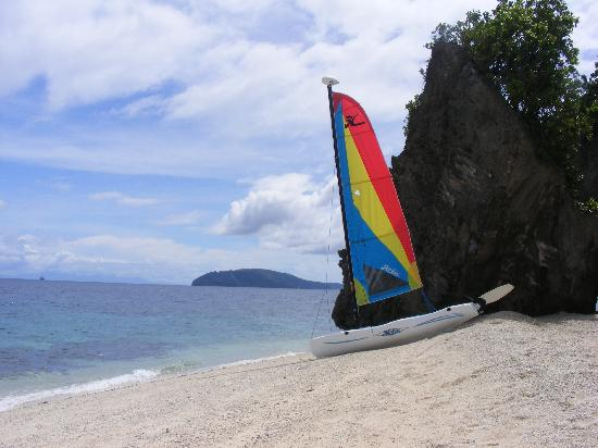 Padre Burgos Castle Resort : View of the private beach