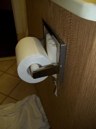 BEST WESTERN PLUS Richmond Airport Hotel: Toliet paper holder about to fall out