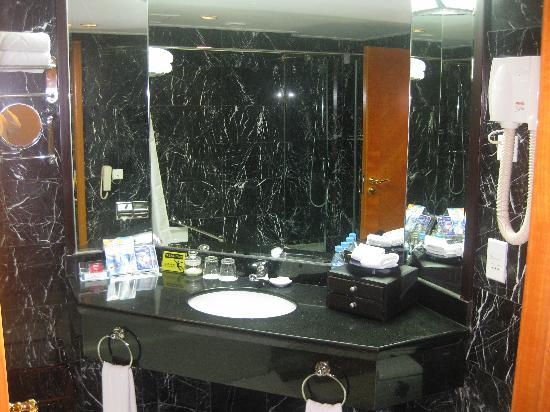 The black marble bathroom. - Picture of Prime Hotel, Beijing ...