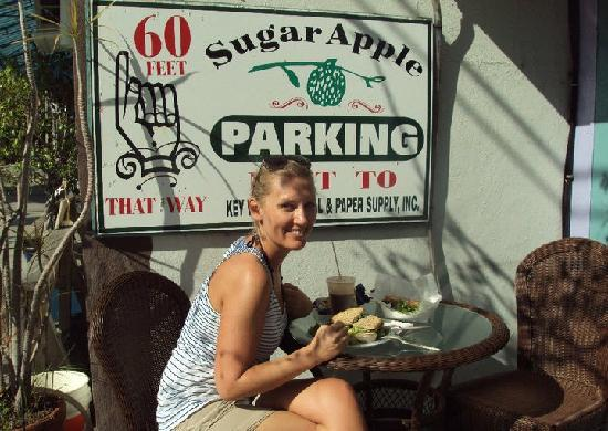 Sugar Apple Health Food Store: The outdoor seating.
