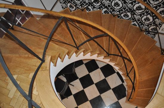 The House: Beautiful circular stairway.
