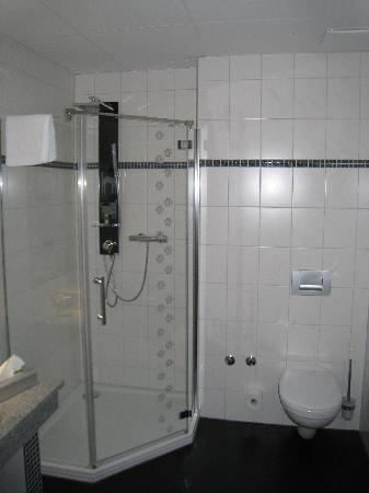 Food Hotel Neuwied: Shower toilet in bathroom