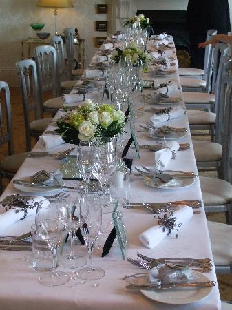 Shun Lee House: Table setting for Wedding day